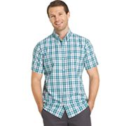 Big & Tall IZOD Advantage Cool FX Regular-Fit Plaid Moisture-Wicking Button-Down Shirt