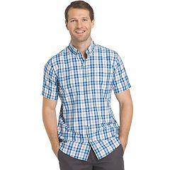 Big & Tall IZOD Advantage Cool FX Regular-Fit Plaid Moisture-Wicking Button-Down Shirt