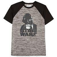 Boys 8-20 Star Wars Darth Vader Raglan Tee