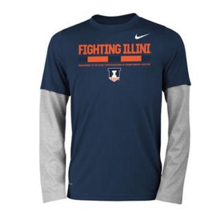 Boys 8-20 Nike Illinois Fighting Illini Legend Tee Set