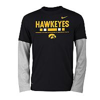 Boys 8-20 Nike Iowa Hawkeyes Legend Tee Set