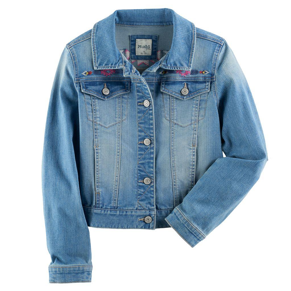 Girls 7-16 & Plus Size Mudd® Embroidered Denim Jacket