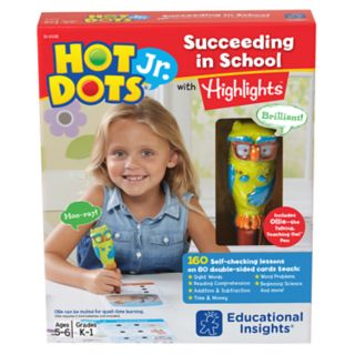Educational Insights Hot Dots Jr. Succeeding in School Set with Highlights