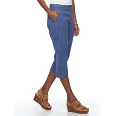 Women's Croft & Barrow® Twill Utility Capris