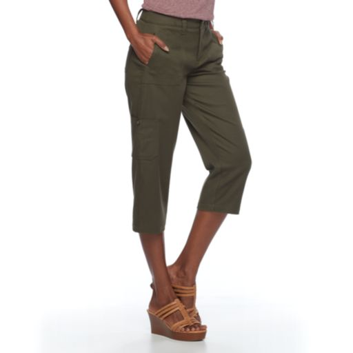 Women's Croft & Barrow® Twill Utility Capris