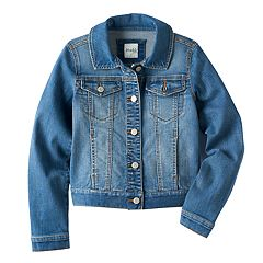 16177720313 Girls 7-16   Plus Size Mudd® Core Denim Jacket