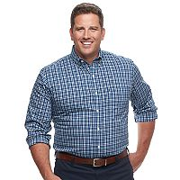 Big & Tall IZOD Sport Flex Plaid Button-Down Shirt