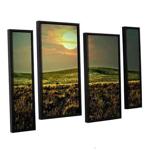 ArtWall Corner Pocket Framed Wall Art 4-piece Set