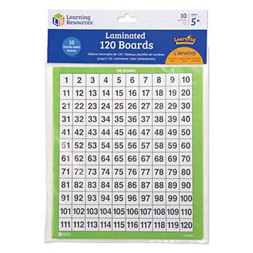 Learning Resources Laminated 120 Boards