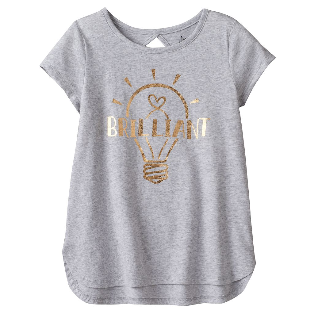 Girls 4-10 Jumping Beans® Back Cutout Sequin Graphic Tee
