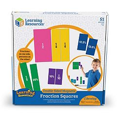 Learning Resources Double-Sided Magnetic Fraction Squares
