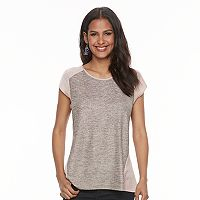 Women's Apt. 9® Metallic Mixed-Media Tee