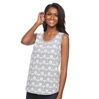 Women's Croft & Barrow® Embroidered Tank