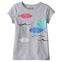 Girls 4-10 Jumping Beans® Short Sleeve Slubbed Embroidered Graphic Tee
