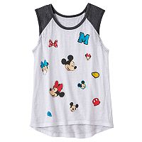 Disney's Mickey Mouse & Minnie Mouse Girls 7-16 Faux Patch Graphic Tee