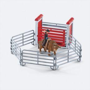 Farm World Bull Riding with Cowboy Figure Set by Schleich