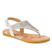 Petalia Toddler Girls' Cutout Slingback Sandals