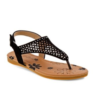 Petalia Girls' Cutout Thong Sandals
