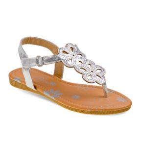 Petalia Toddler Girls' Floral Slingback Sandals