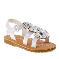 Petalia Toddler Girls' Rhinestone Flower Sandals