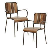 INK+IVY Renu Wood Arm Dining Chair 2 pc Set