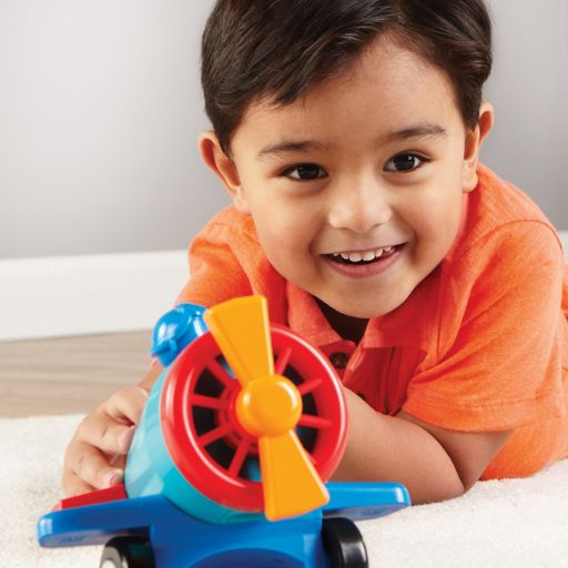 Learning Resources 1-2-3 Build It Car-Plane-Boat Set