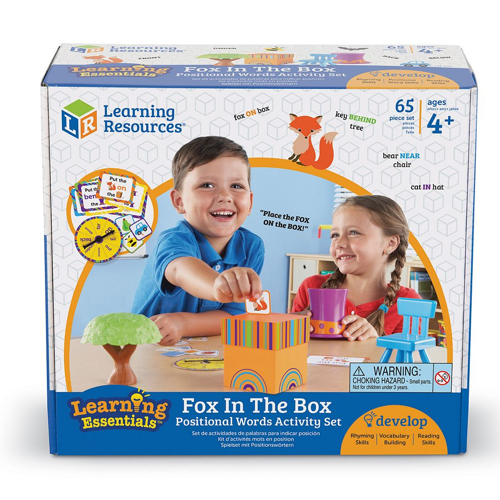 Learning Resources Fox in a Box Position Word Activity Set