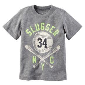 "Toddler Boy Carter's ""Slugger NYC"" Baseball Short Sleeved Graphic Tee"