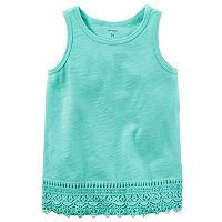 Girls 4-8 Carter's Crochet Trim Tank Top