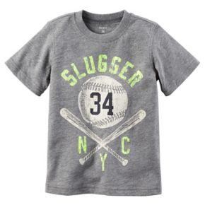 "Baby Boy Carter's ""Slugger NYC"" Baseball Short Sleeved Graphic Tee"