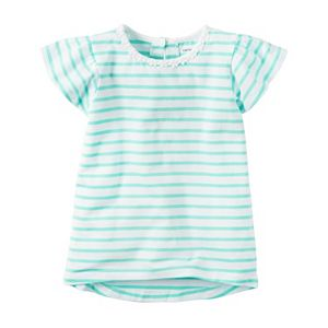 Girls 4-8 Carter's Striped Flutter-Sleeved Top
