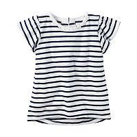 Girls 4-8 Carter's Striped Flutter-Sleeved Top