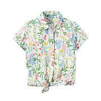 Girls 4-8 Carter's Floral Tie-Front Top