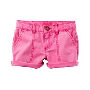 Girls 4-8 Carter's Rolled Solid Shorts