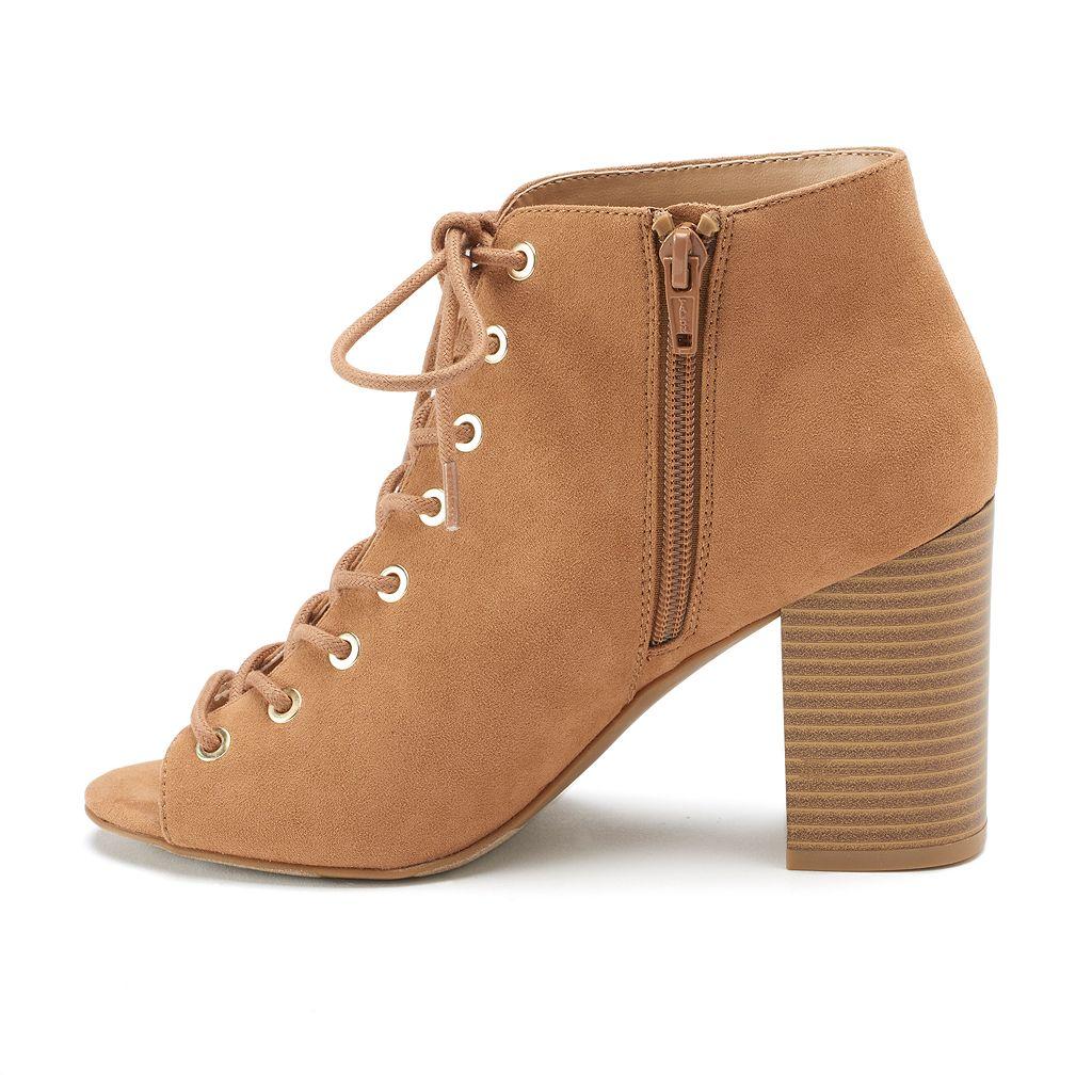 Apt. 9® Admin Women's Open Toe Ankle Boots