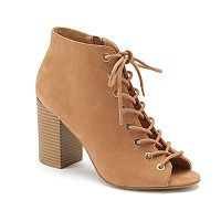 Apt. 9® Admin Women's Open Toe Ankle Boots