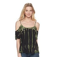 Women's Rock & Republic® Cold-Shoulder Tie-Dye Top
