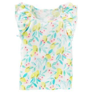 Girls 4-8 OshKosh B'gosh® Flutter-Sleeved Floral Top
