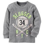 Baby Boy Carter's 'Slugger NYC' Baseball Long Sleeved Graphic Tee