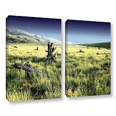 ArtWall Fall Creeps Canvas Wall Art 2 pc Set