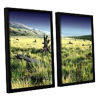 ArtWall Fall Creeps Framed Wall Art 2 pc Set