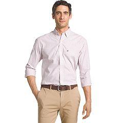 Big & Tall IZOD Essential Regular-Fit Tattersall Plaid Button-Down Shirt