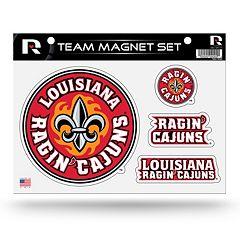 Louisiana Lafayette Ragin' Cajuns Team Magnet Set