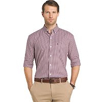 Big & Tall IZOD Advantage Sportflex Regular-Fit Gingham-Plaid Stretch Button-Down Shirt