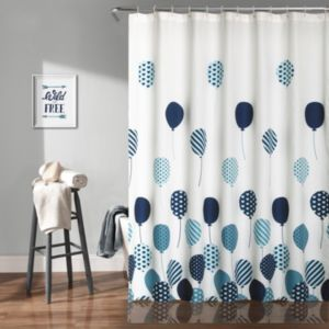 Lush Decor Flying Balloon Kid's Shower Curtain