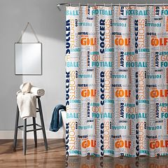 Lush Decor Sports Kid's Shower Curtain