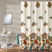 Lush Decor Bird & Flower Kid's Shower Curtain