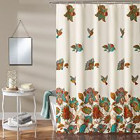 Lush Decor Bird & Flower Kid's Shower Curtain