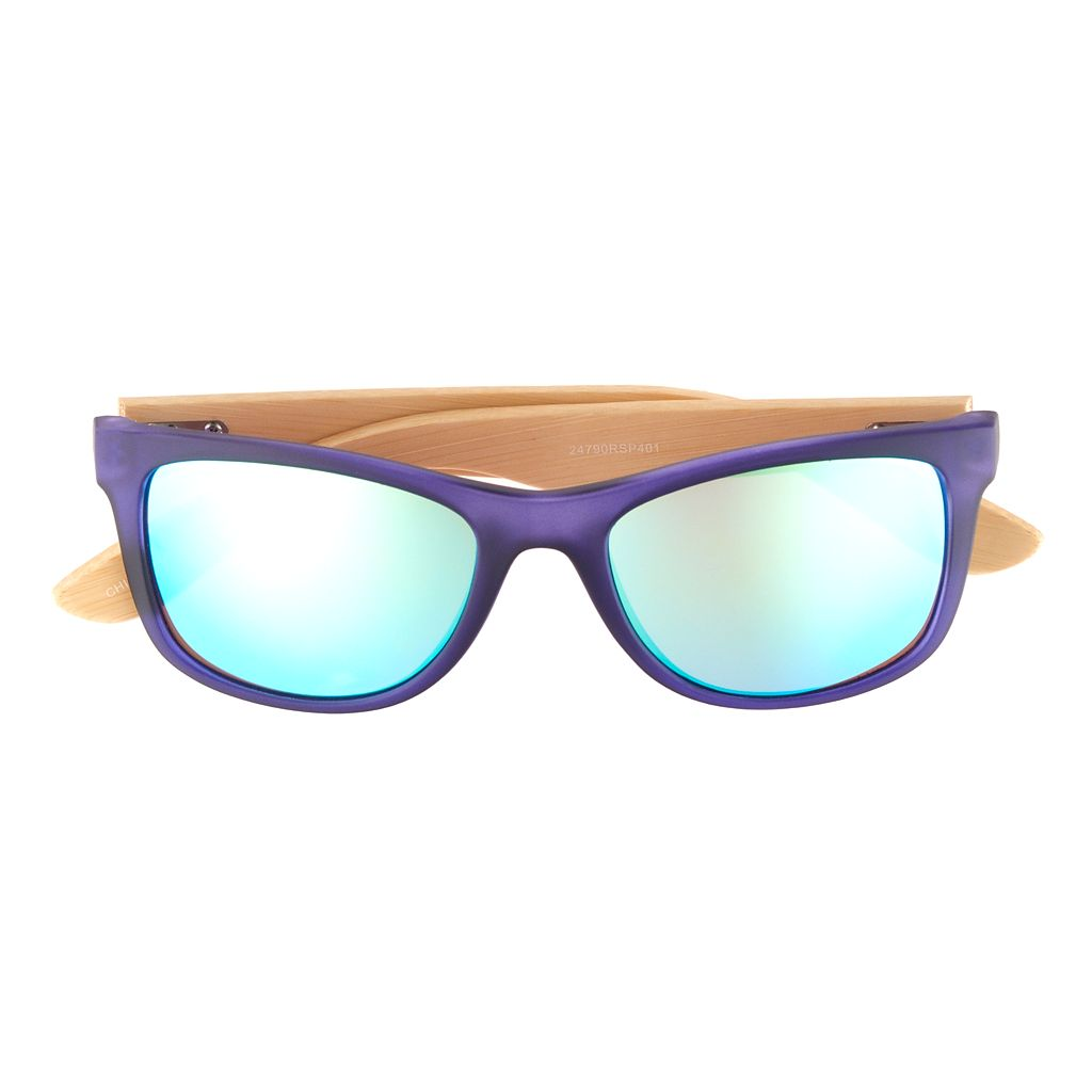Men's Apt. 9® Rubberized Wood-Temple Sunglasses
