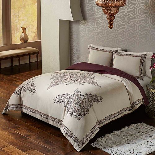 Vue 3-piece Bahia Palace 300 Thread Count Duvet Cover Set